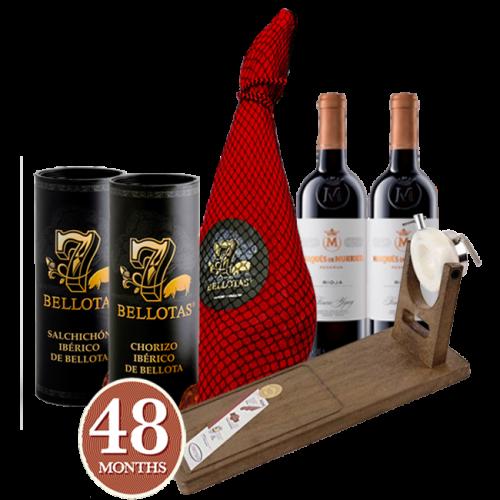 7 BELLOTAS® Gran Reserva Ham + Rioja...