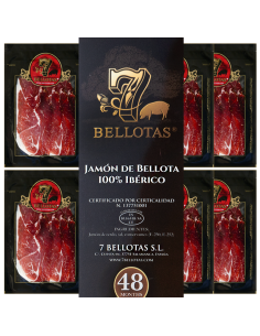 sliced bellota pata negra ham