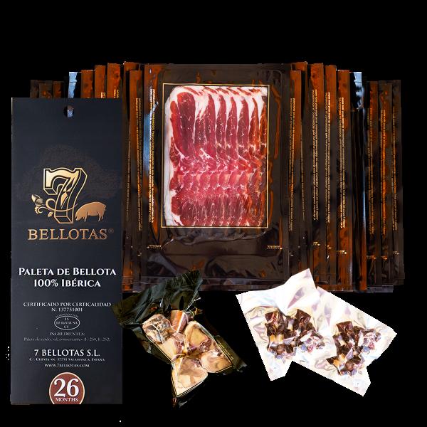 sliced Acorn-Fed 100% Iberian Pata Negra Shoulder Ham
