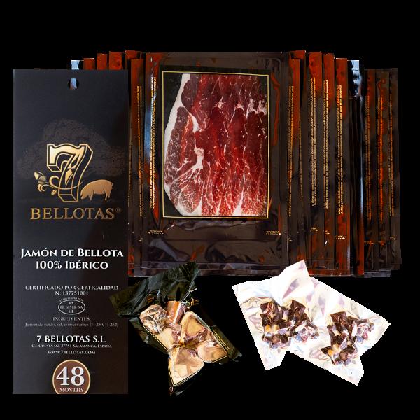 sliced Acorn-Fed 100% Iberian Pata Negra Ham