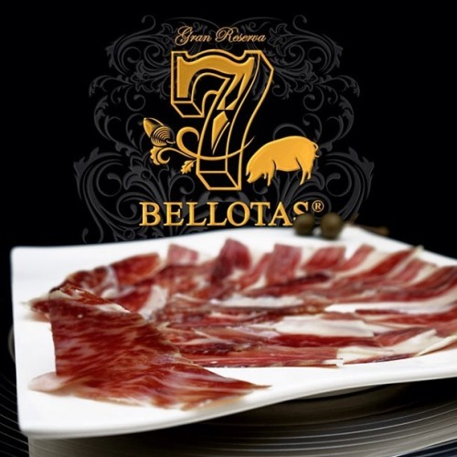 6X80gr. Jamón 7 BELLOTAS® Pata Negra & Lomo Loncheado + Rioja 2X75cl.