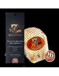 Paletilla ibérica de bellota 5,0 Kg. + Estuche Rioja Reserva 2 X 75ccl.