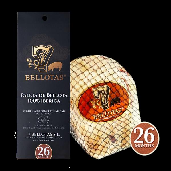 "7 BELLOTAS® Shoulder Ham ""Gran Reserva"" 5,0 Kg. + Rioja Set + Cured Sausages"