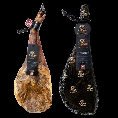 Pata Negra Schulter-Schinken + Schinkenhalter Pro + Zilling Messer + Wurstwaren